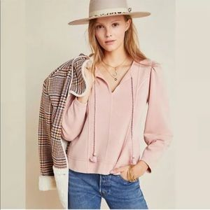 Anthropologie Maeve Jeanne Puff Sleeved Pullover